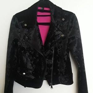 Faux Crushed Velvet Jacket